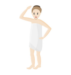woman in spa towel icon cartoon style vector image
