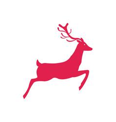 deer icon symbol new year holidays reindeer vector image