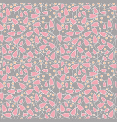 seamless abstract pink flower vector image vector image