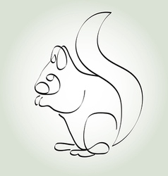 Squirrel in minimal line style vector image vector image