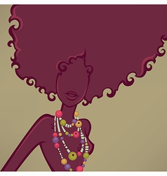 african girl vector image vector image