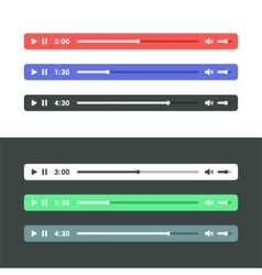 Audio Player vector image