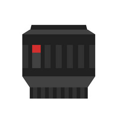 camera photo lens icon vector image