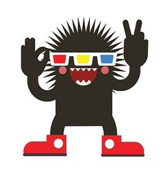 Cinema monster vector image