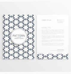 creative letterhead design with front and back vector image