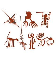Nazca lines set vector