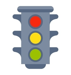 Traffic light isolated vector image vector image