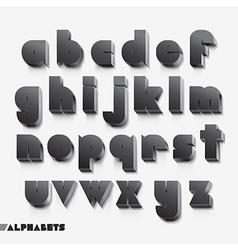 3D alphabet black color vector image
