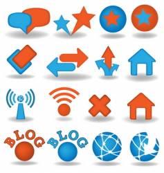 blog icons set vector image