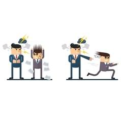businessman chief berates subordinate vector image vector image