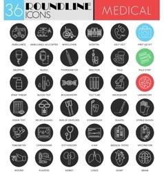 Medical medicine circle white black icon vector image vector image