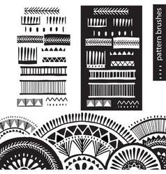 Pattern brushes vector image
