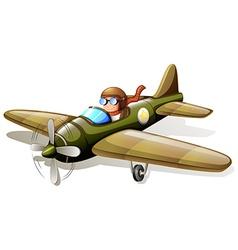 A vintage plane with a pilot vector