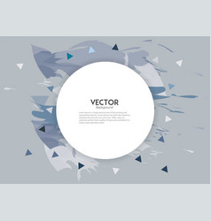 Abstract color splash brush white banner vector