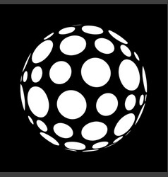abstract polka dots in sphere form vector image