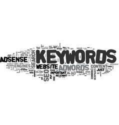 Adwords adsense seo common denominator keywords vector