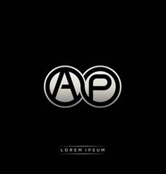 Ap initial letter linked circle capital monogram vector