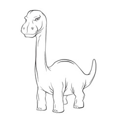 apatosaurus dinosaur long neck creature monster vector image