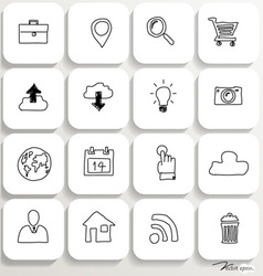Application icons design set 1 vector image