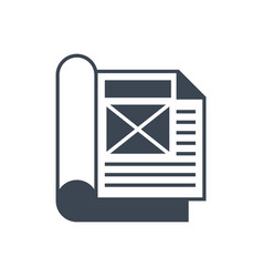 Article flat glyph icon vector