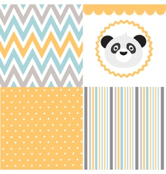 Baby pattern set vector image
