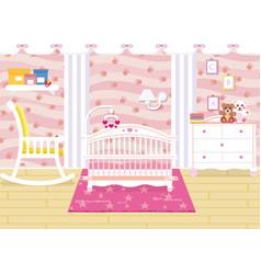 baby room interior vector image