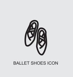 Ballet shoes icon vector