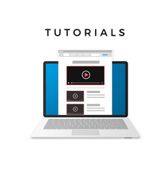 banner design of video tutorials concept isolated vector image