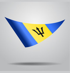 Barbados flag background vector