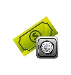 bills dollar with economy icon vector image