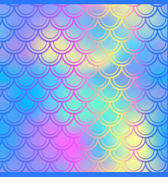 Blue pink fish skin background with scale vector