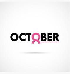 breast cancer october awareness month vector image