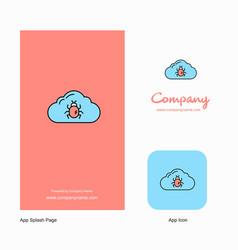bug on cloud company logo app icon and splash vector image