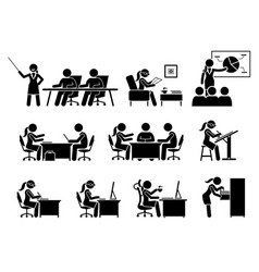 Businesswoman working in an office artworks vector