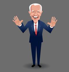 Caricature presidential candidate joe biden vector