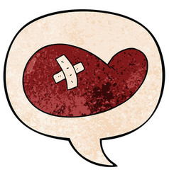 cartoon injured gall bladder and speech bubble in vector image