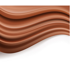 Chocolate background abstract creamy brown waves vector