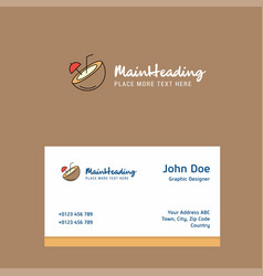 coconut logo design with business card template vector image