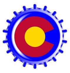 Colorado bottle cap vector