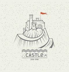 Emblem castle on a mountain vector