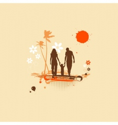 family summer holiday vector image