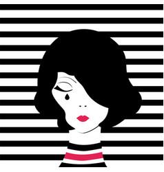 fashion girl crying vector image
