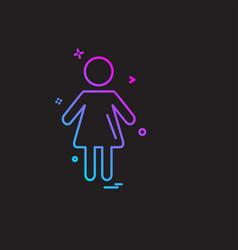Female avtar icon design vector