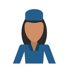 female flight attendant avatar icon image vector image