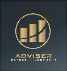 Finance adviser logo vector