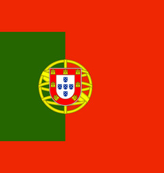 flag of portugal in official rate and colors vector image