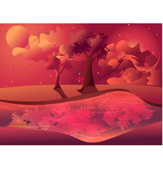 flat bright sky with living coral vector image