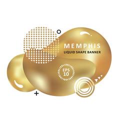 golden trendy concept mosaic amoeba design vector image