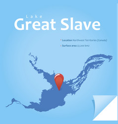 great slave lake vector image