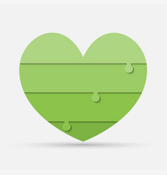 green pieces puzzle of medical heart iinfographic vector image